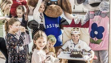Kindergeburtstagsfeier mit Kasimir