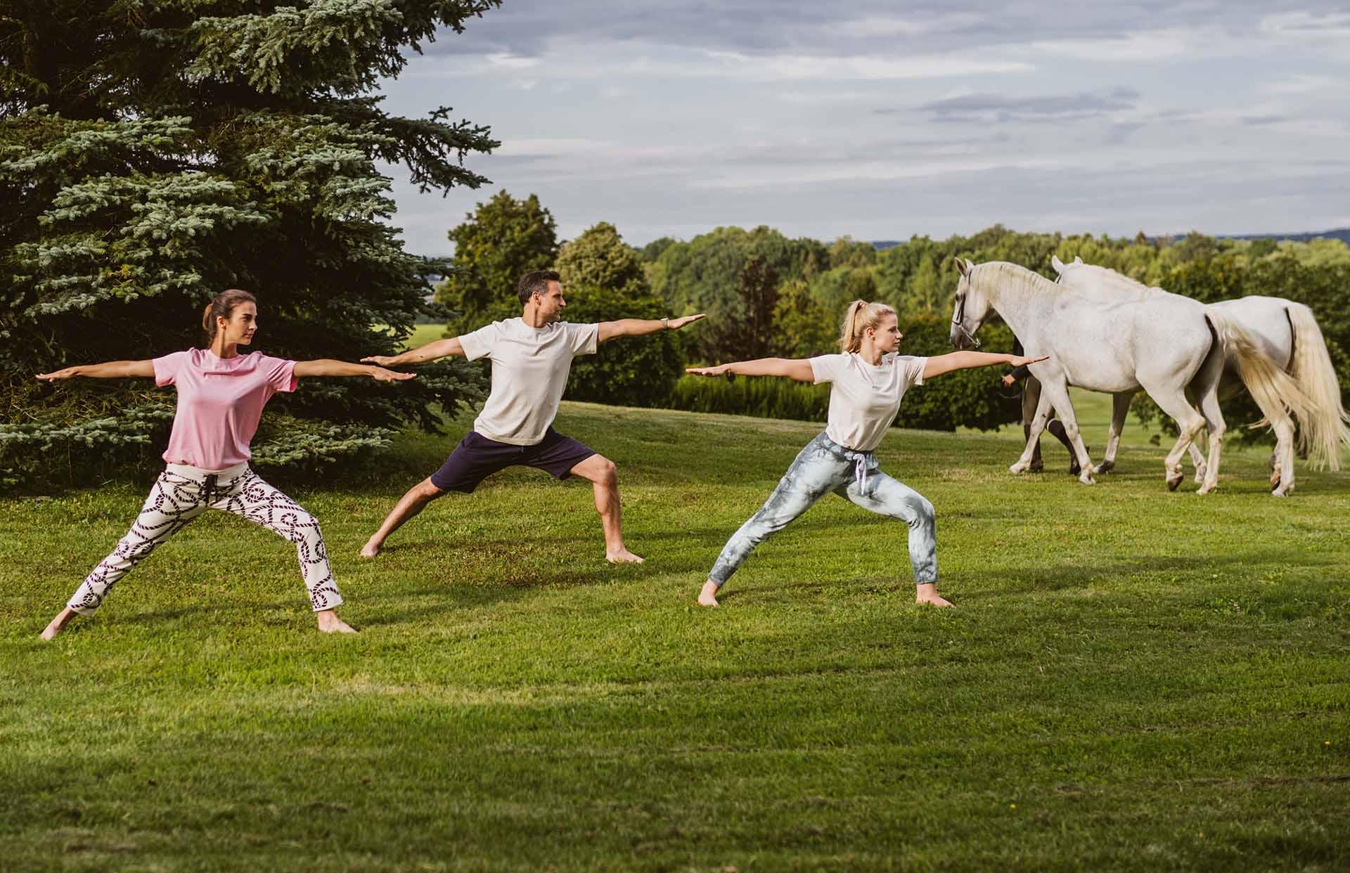 Yoga im Reiters Reserve Garten