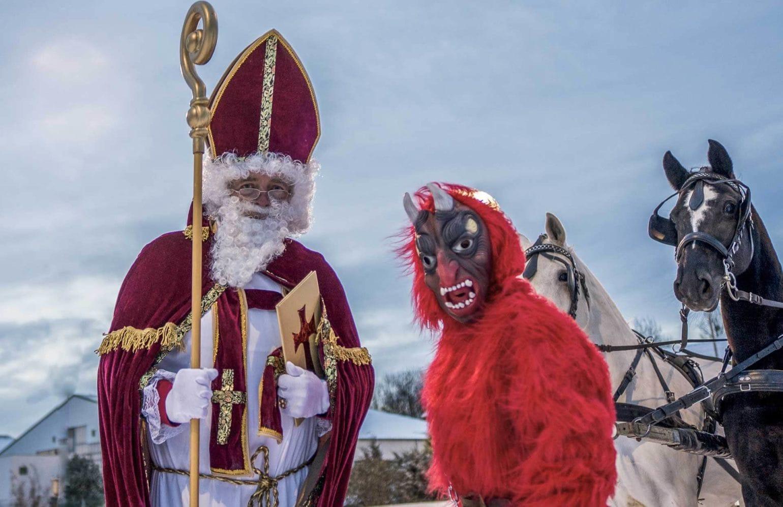 Krampus und Nikolaus im Reserve