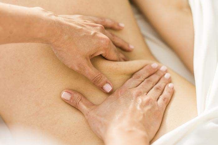 Rückenmassage im Medical Spa