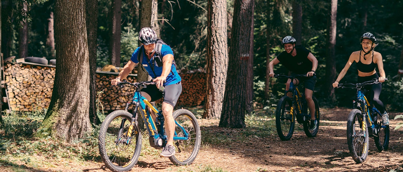 E-Mountain-Bike Tour im Wald