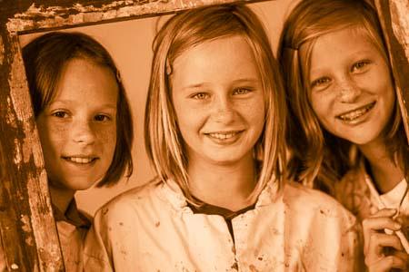 Portrait von 3 Mädchen